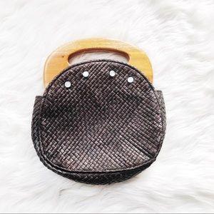Vintage Handmade Wooden Small Bag Handbag